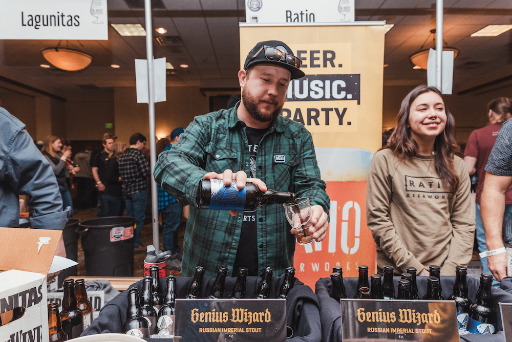 Hunter Grondin and Jenni Maez of Ratio Beerworks getting magical with Genius Wizard