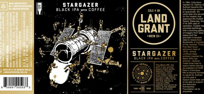 Land-Grant Brewing | Stargazer Black IPA