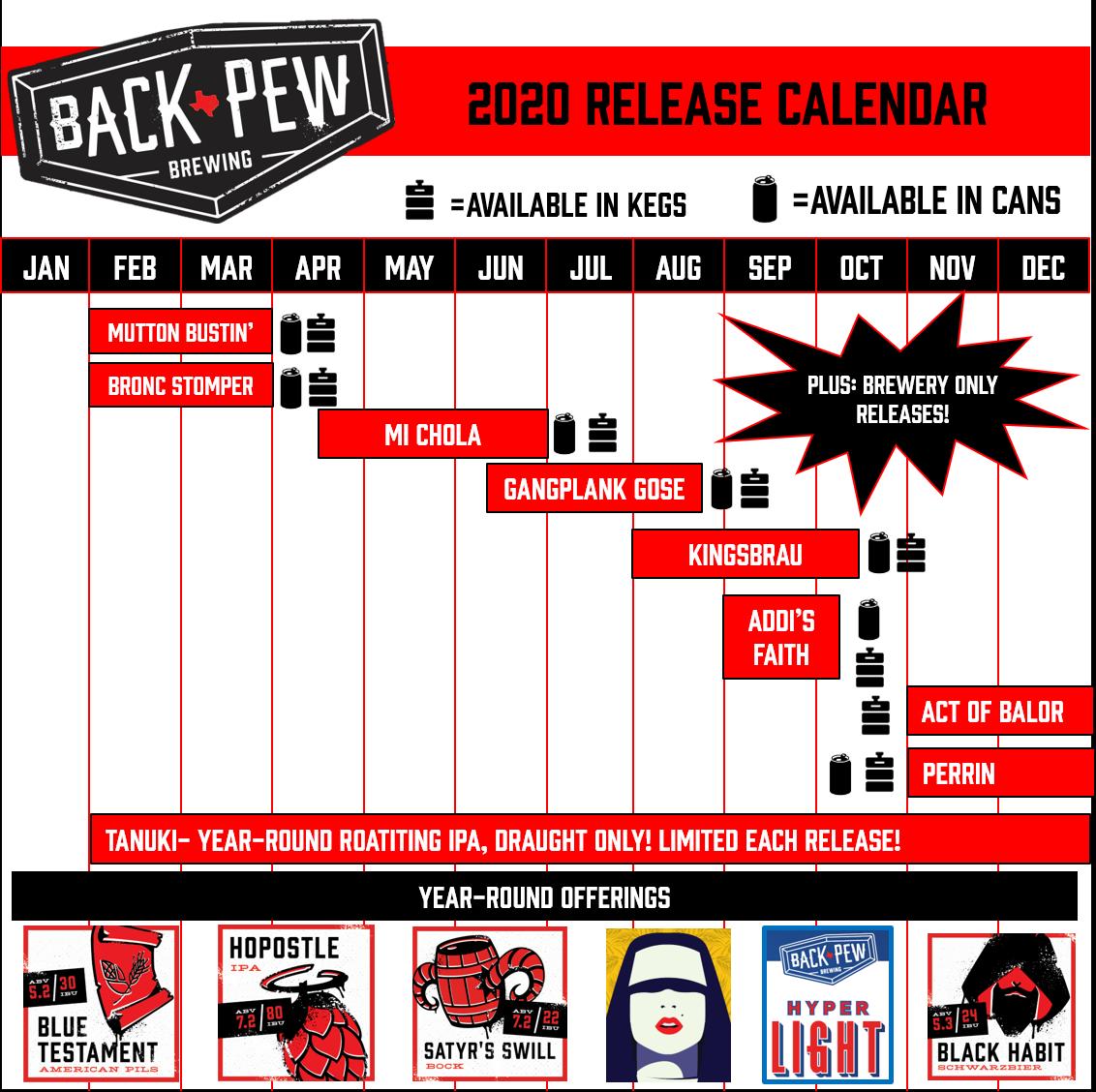 PorchDrinking 2020 Beer Release Calendar