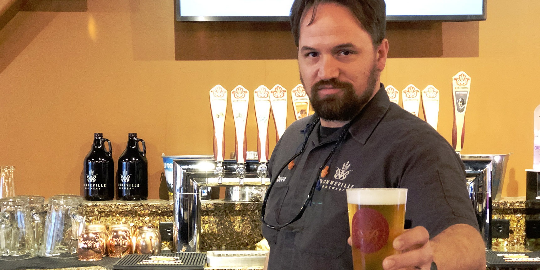 Dave Watson, head brewer at Bonneville Brewery in Tooele, Utah. Photo Credit: Tim Haran