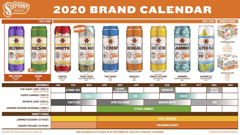 2020 Sixpoint Beer Release Calendar