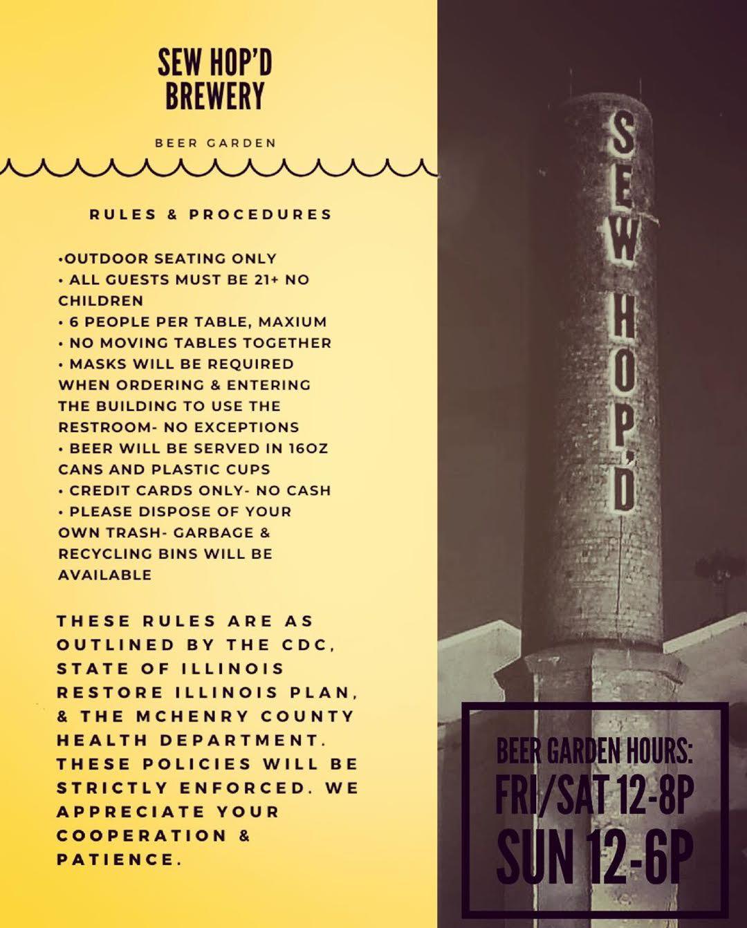 Sew Hop'd Brewing COVID19