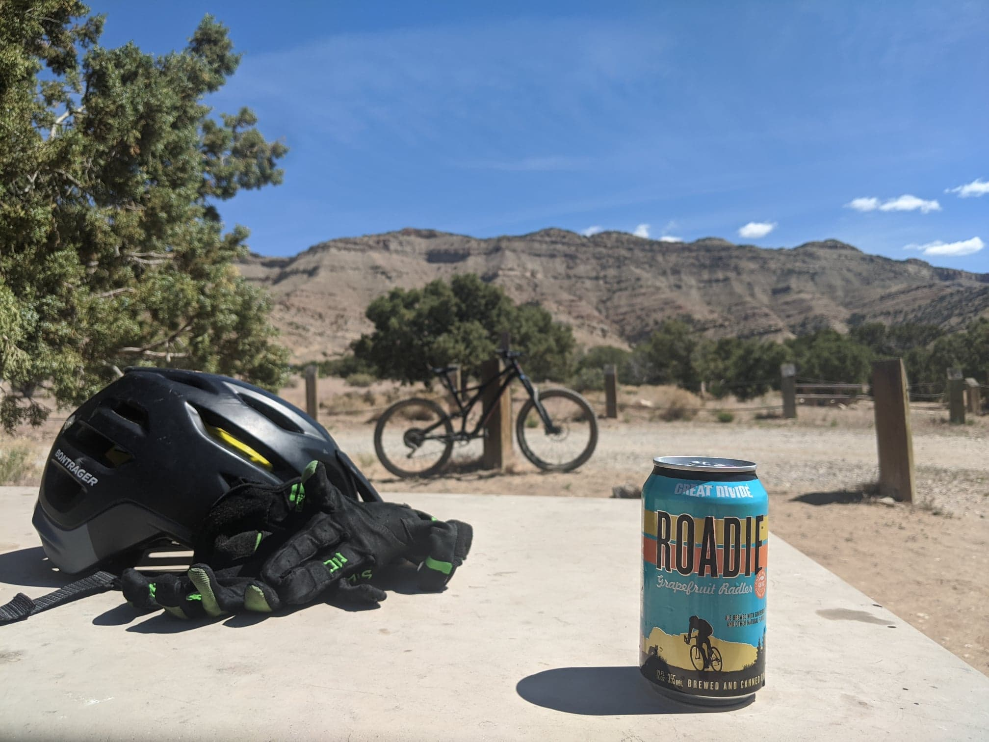 mountain biking with beer