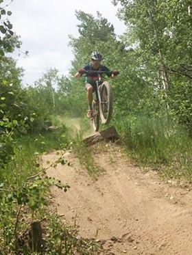 mountain biking with beer