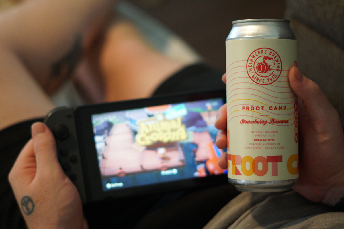 Animal Crossing and beer