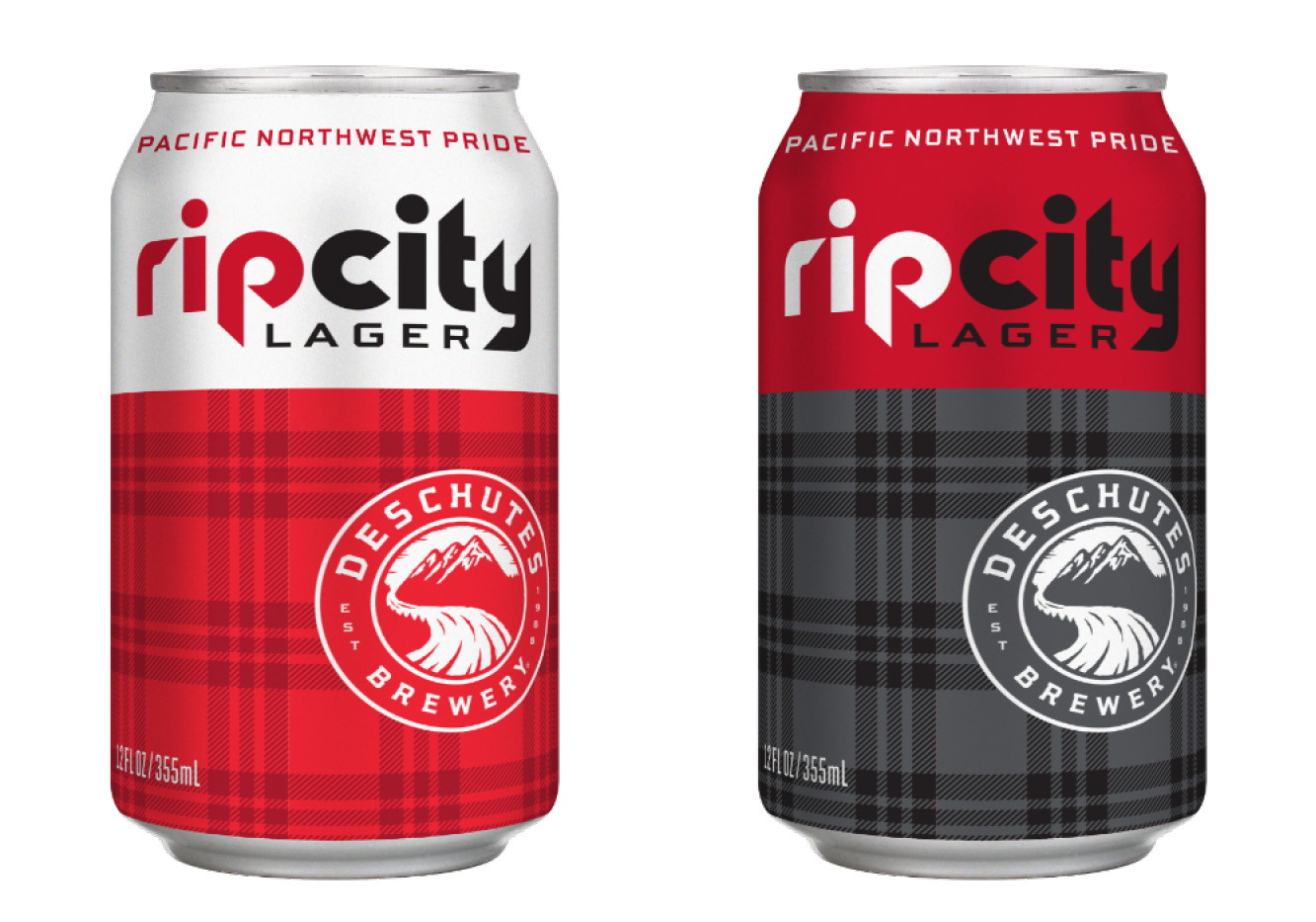 Rip City Lager Home and Away Cans