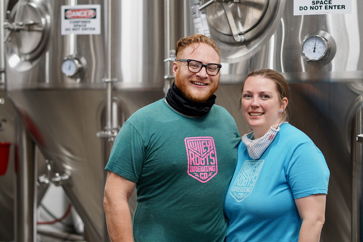 Wiley Roots Brewing Co. Kyle and Miranda Carbaugh