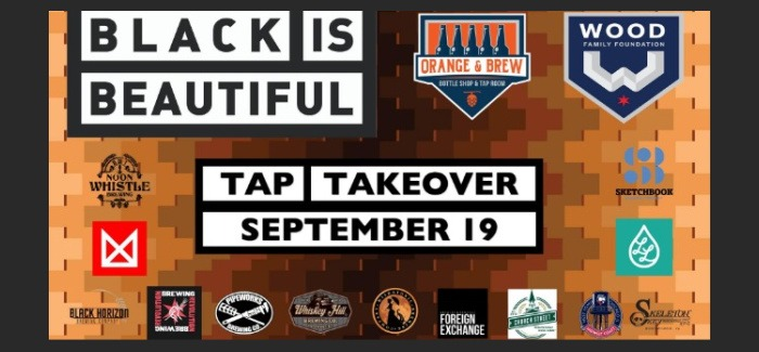 Black is Beautiful Tap Takeover benefits Wood Family Pitch In Project, hosted by Orange & Brew