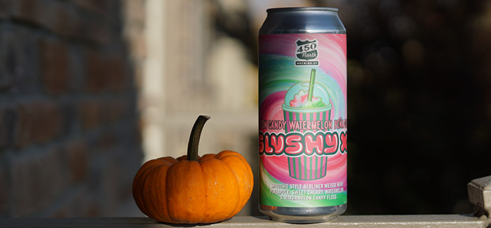 Halloween Beer Treat | 450 North Brewing Cotton Candy Watermelon Piña Colada Slushy XL