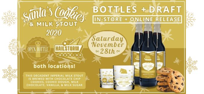 Santa's Cookies & Milk Stout Release from The Open Bottle & Hailstorm Brewing