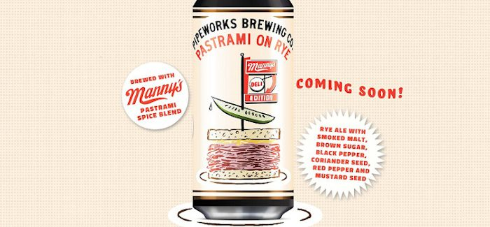 Pipeworks Brewing & Manny's Deli Collaborate on Beef-Focused Pastrami on Rye Ale