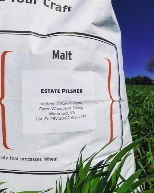 A bag of estate-grown malt.