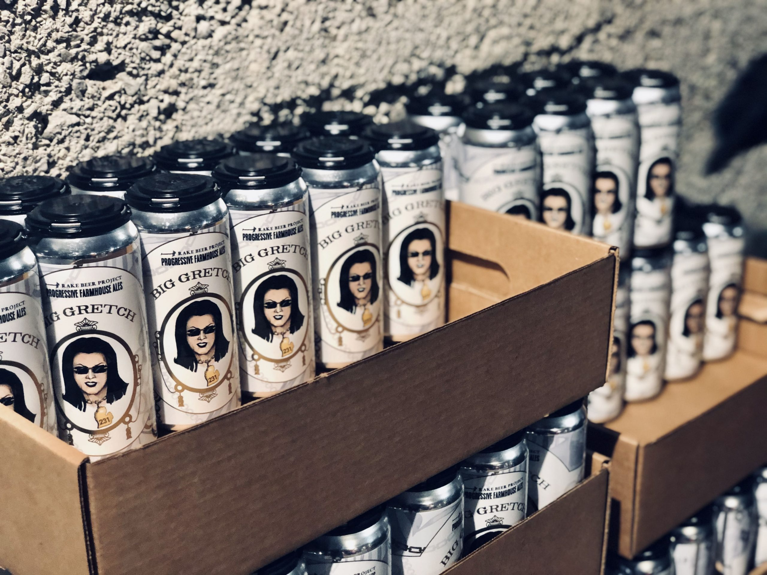 Rake Beer Project | Big Gretch cans