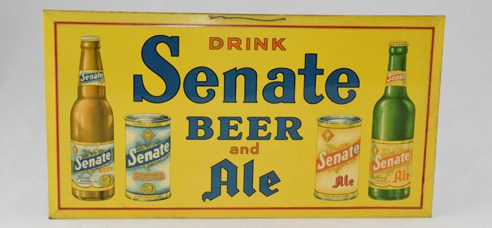 Vintage Senate Beer Advertisement