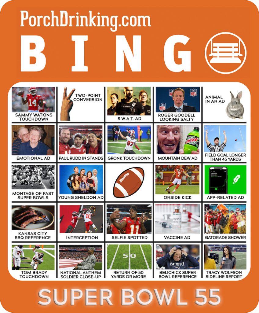 Super Bowl LV Bingo Boards