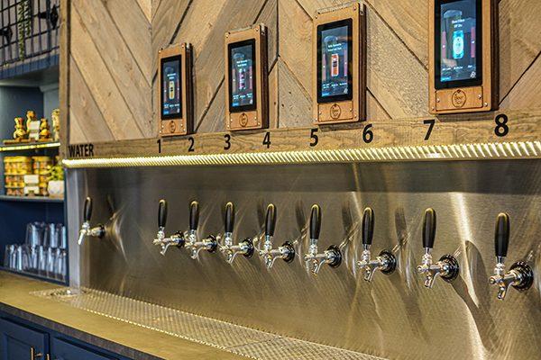 Self-serve tap wall. Photo courtesy Karen Mills