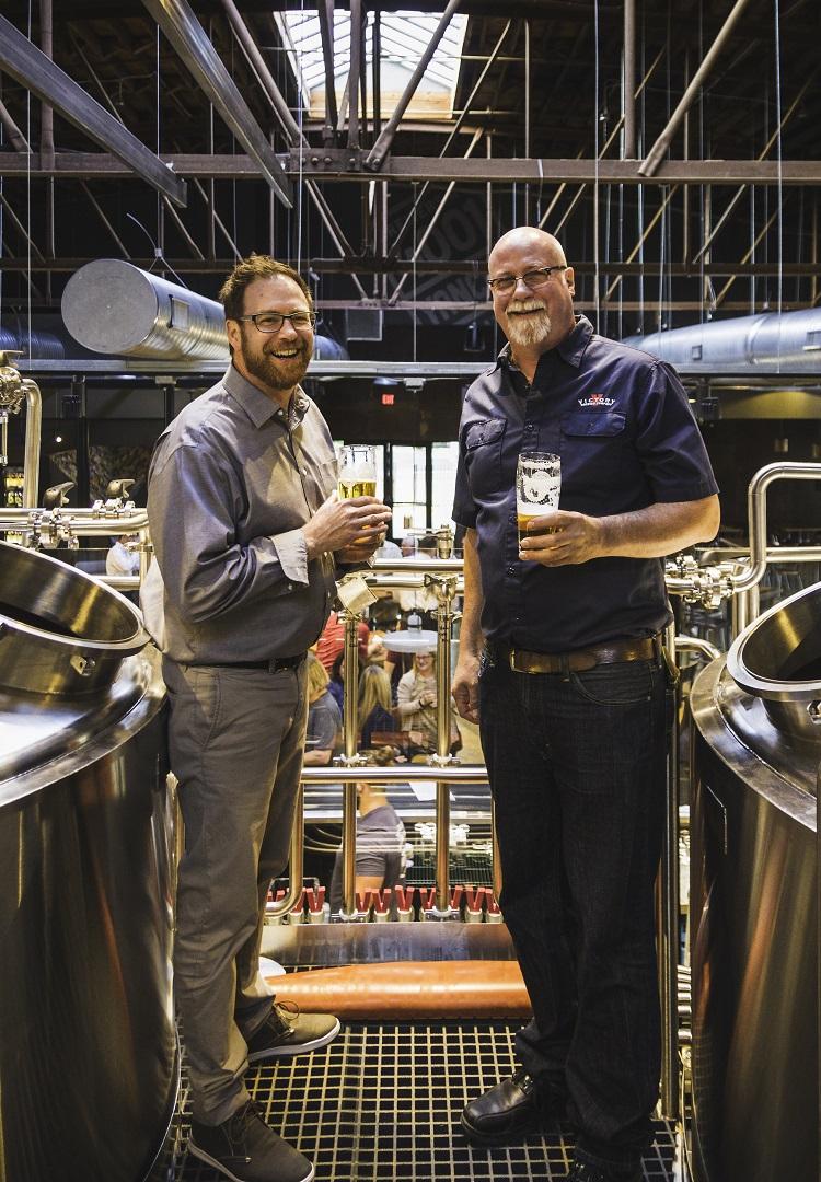 Bill Covaleski (L) and Ron Barchet (R). Photo courtesy: Victory Brewing