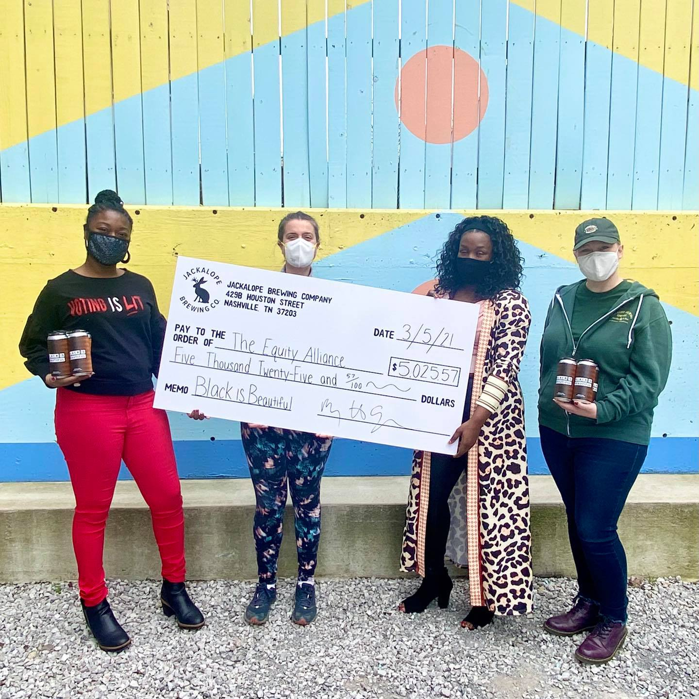 Jackalope Brewing Donates to The Equity Alliance