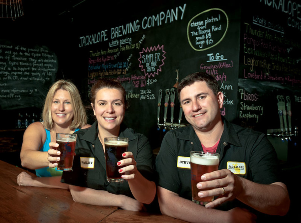 Robyn Virball, Bailey Spaulding & Steve Wright of Jackalope Brewing Co.