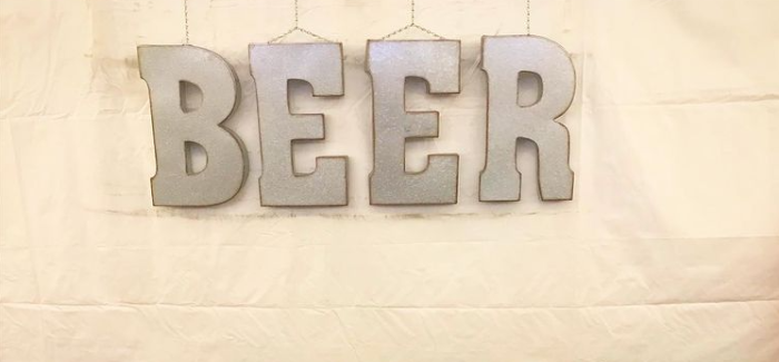Snowbank Brewing's Beer Tent Sign