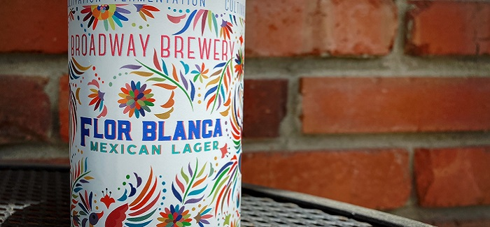 Broadway Brewery   Flor Blanca Mexican Lager