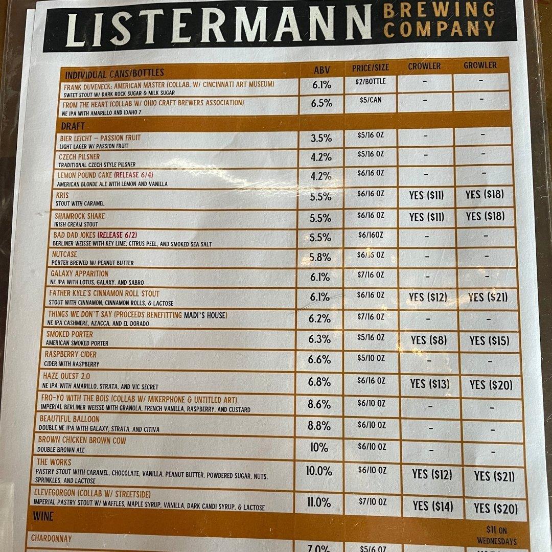 Listermann Draft List