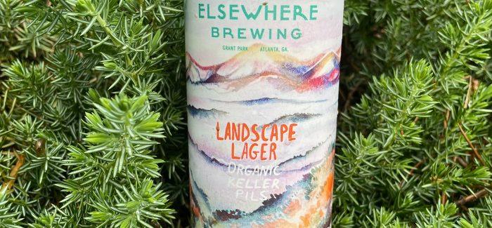 Elsewhere Brewing   Landscape Lager Organic Keller Pils
