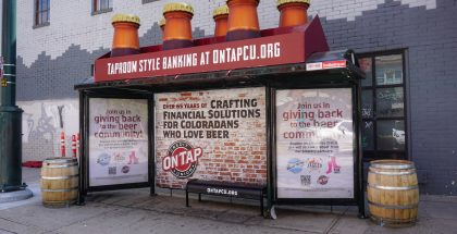 On Tap Credit Union Bus Shelter