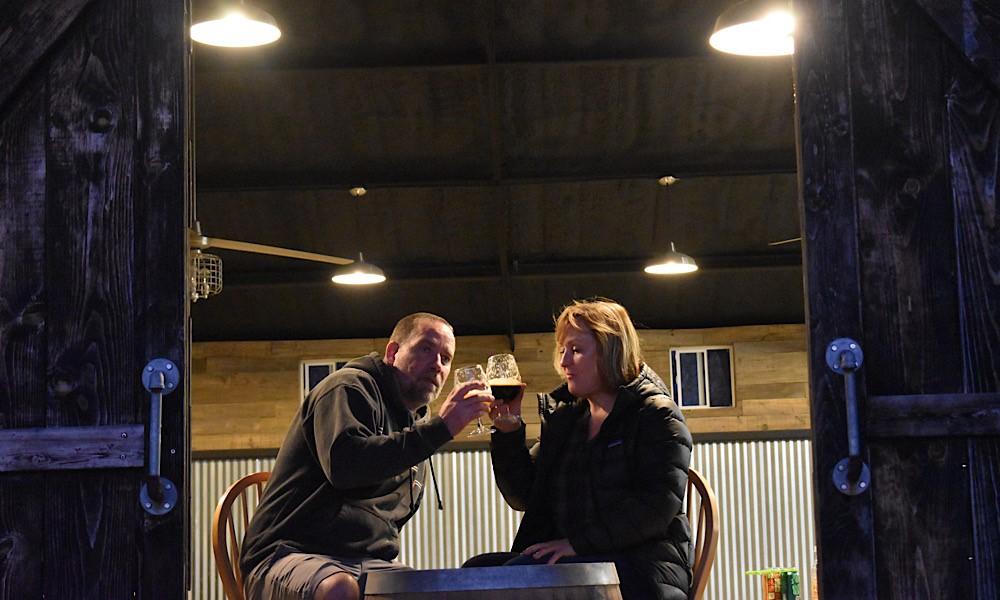 Philip and Monica Davis of Hawkins Farmhouse Ales, photo credit Hawkins Farmhouse Ales