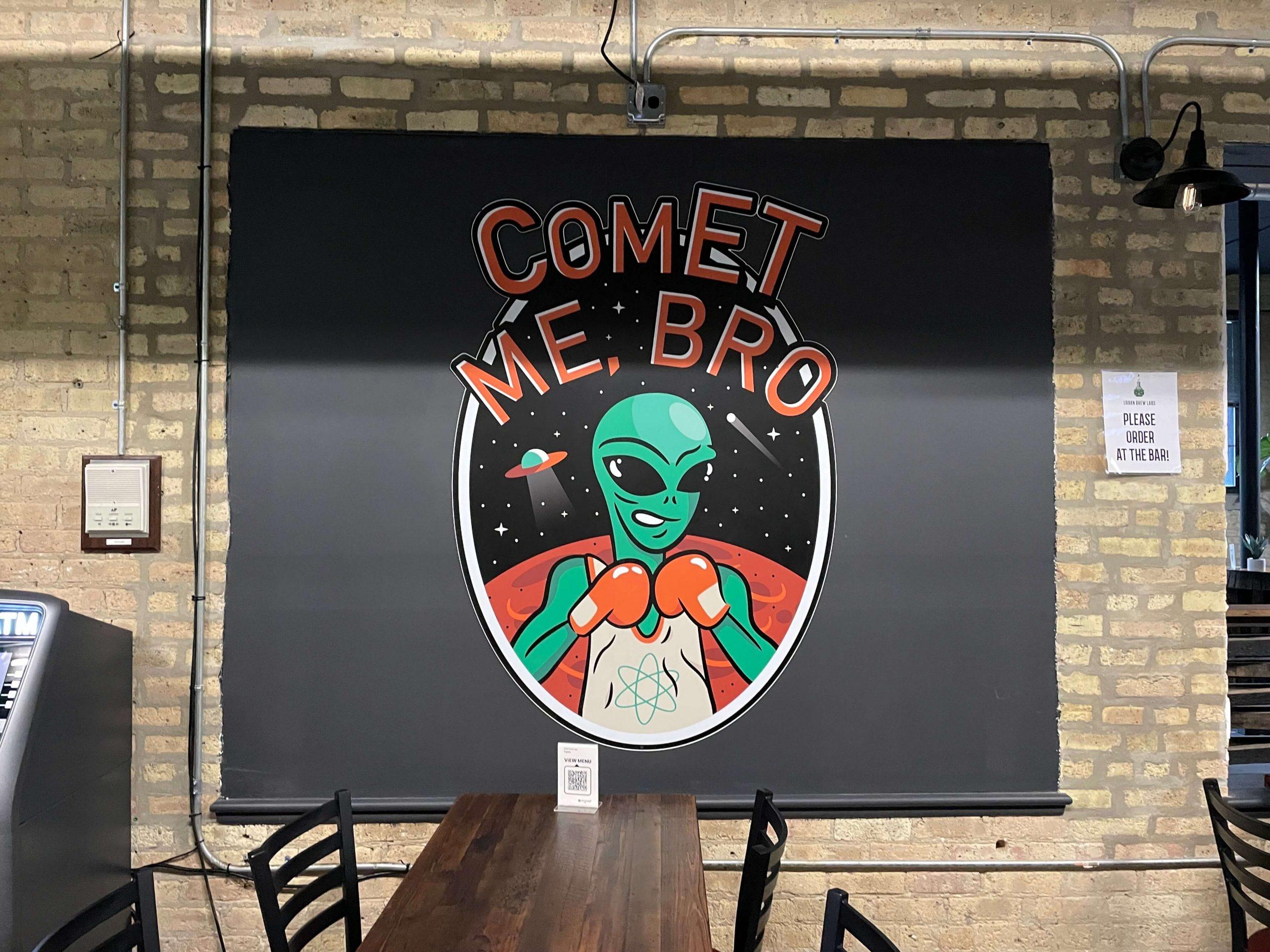"""""""Comet Me, Bro"""" Mural at Urban Brew Labs"""