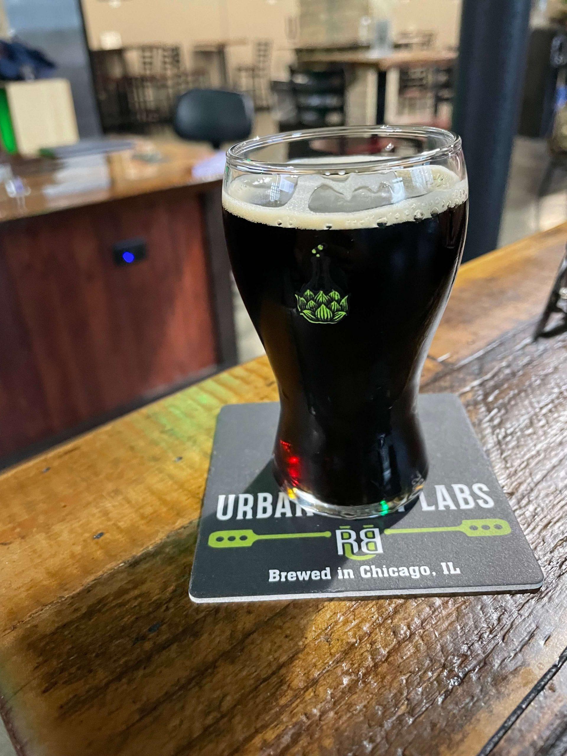 draft beer on bar counter