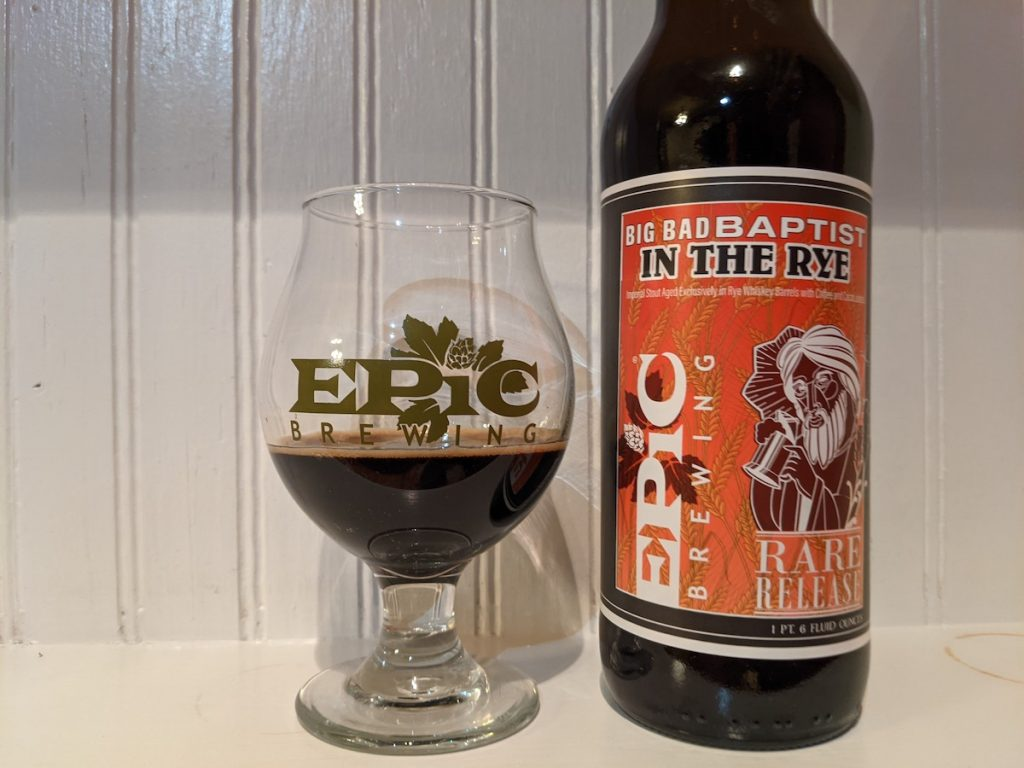 2021 Epic Brewing Big Bad Baptist In The Rye
