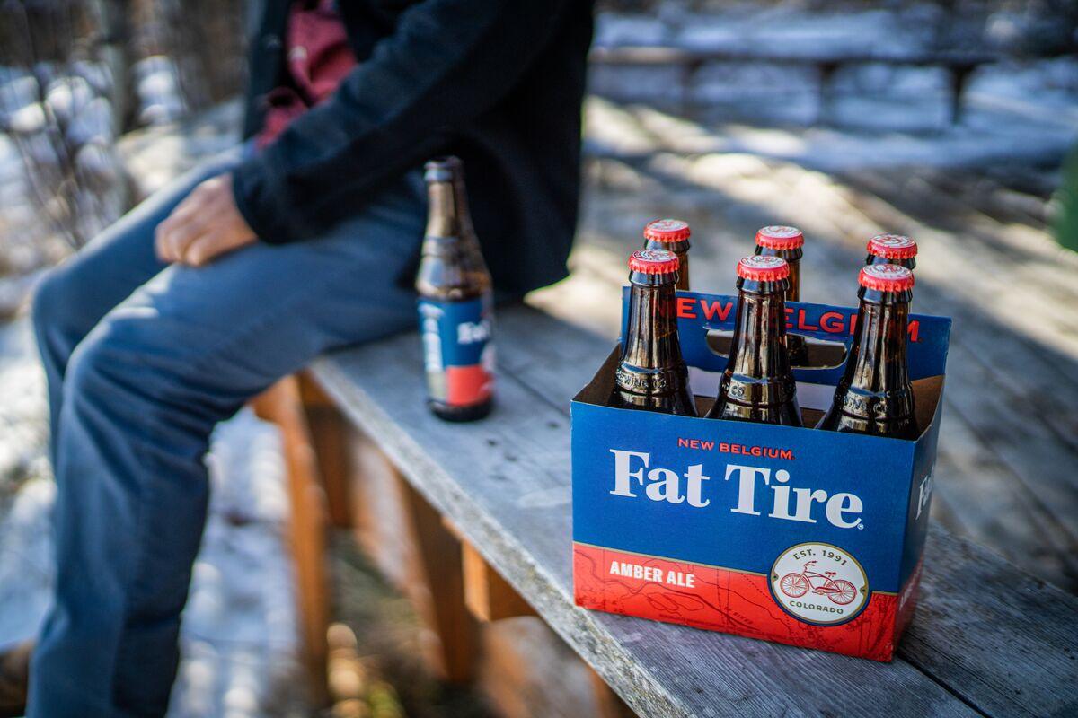 New Belgium Brewing Fat Tire in Bottles