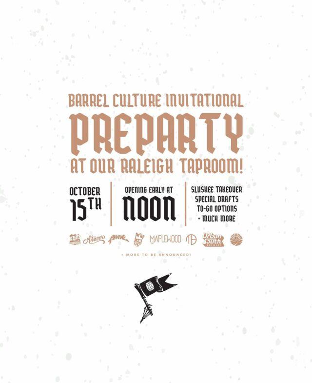 Barrel Culture Pre-Party